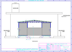 Front Elevation of Toilet Blocks