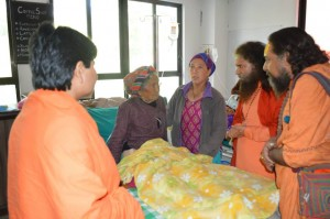 Pujya Swamiji Meets Patients in Nepal (4)