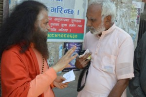 Pujya Swamiji Meets Patients in Nepal (6)
